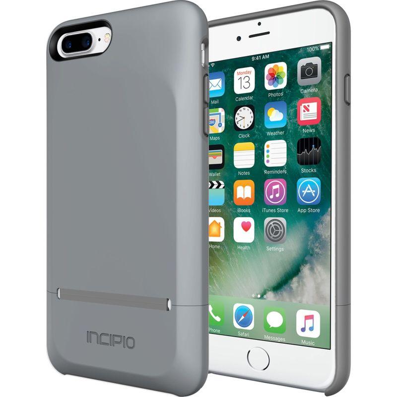 インシピオ メンズ PC・モバイルギア アクセサリー Stashback for iPhone 7 Plus Gray/Gray