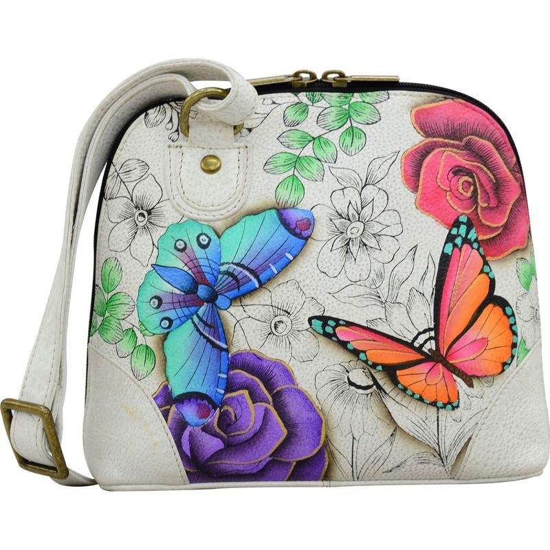 アンナバイアナシュカ メンズ ショルダーバッグ バッグ Hand Painted Small Multi Compartment Zip-Around Organizer Floral Paradise