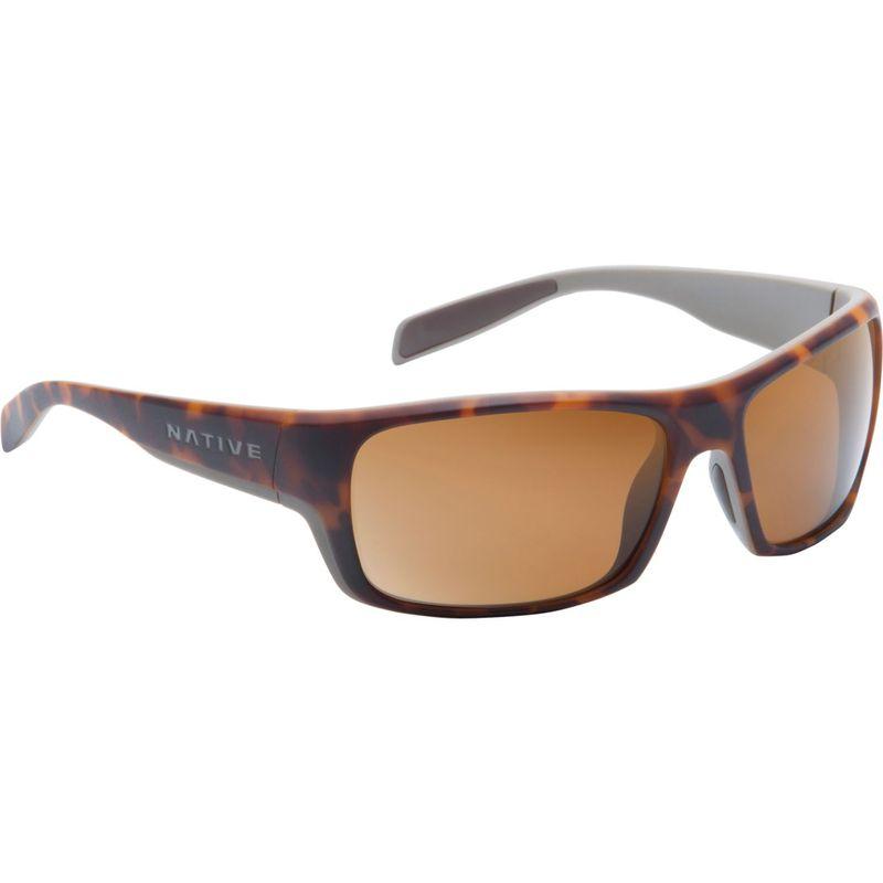 ネイティブアイウェア メンズ サングラス・アイウェア アクセサリー Eddyline Sunglasses Desert Tort/Matte Gray with Polarized Brown
