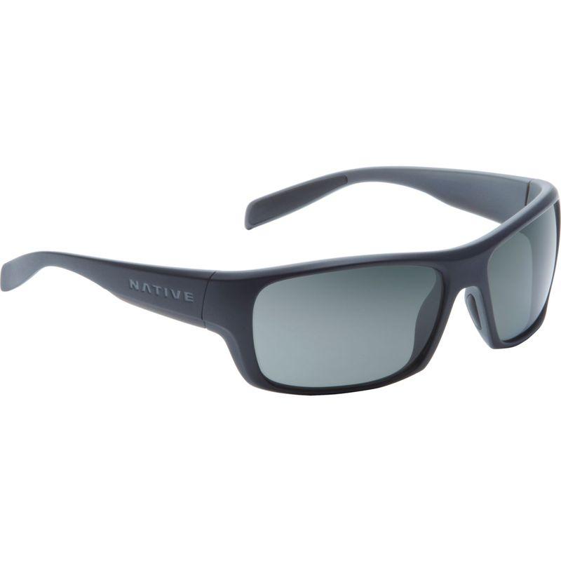 ネイティブアイウェア メンズ サングラス・アイウェア アクセサリー Eddyline Sunglasses Matte Black/Granite with Polarized Gray