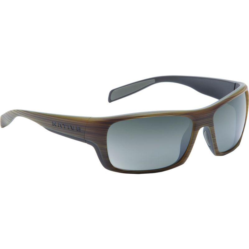 ネイティブアイウェア メンズ サングラス・アイウェア アクセサリー Eddyline Sunglasses Wood/Matte Black with Polarized Silver Reflex