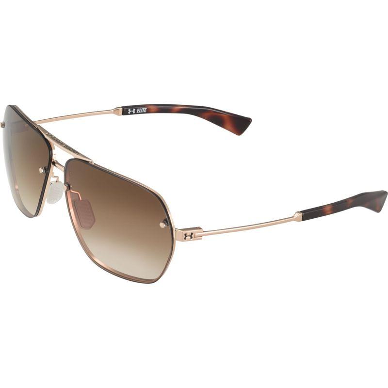 アンダーアーマー メンズ サングラス・アイウェア アクセサリー Hi-Roll Sunglasses Shiny Gold-Tortoise/Brown Gradient