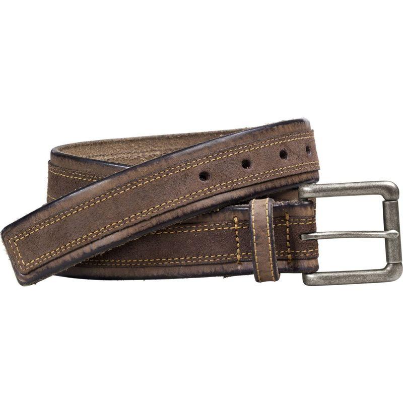 ジョンストンアンドマーフィー メンズ ベルト アクセサリー Distressed Overlay Belt 38 - Brown