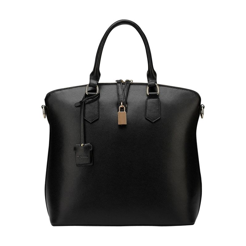 ビンセンゾレザー メンズ トートバッグ バッグ Delicia Leather Top Handle Black