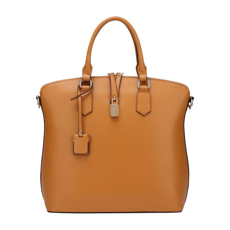 ビンセンゾレザー メンズ トートバッグ バッグ Delicia Leather Top Handle Brown