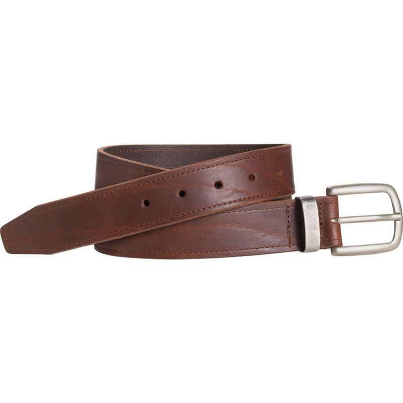 ジョンストンアンドマーフィー メンズ ベルト アクセサリー Casual Raised Leather Belt Dark Brown - Size 32