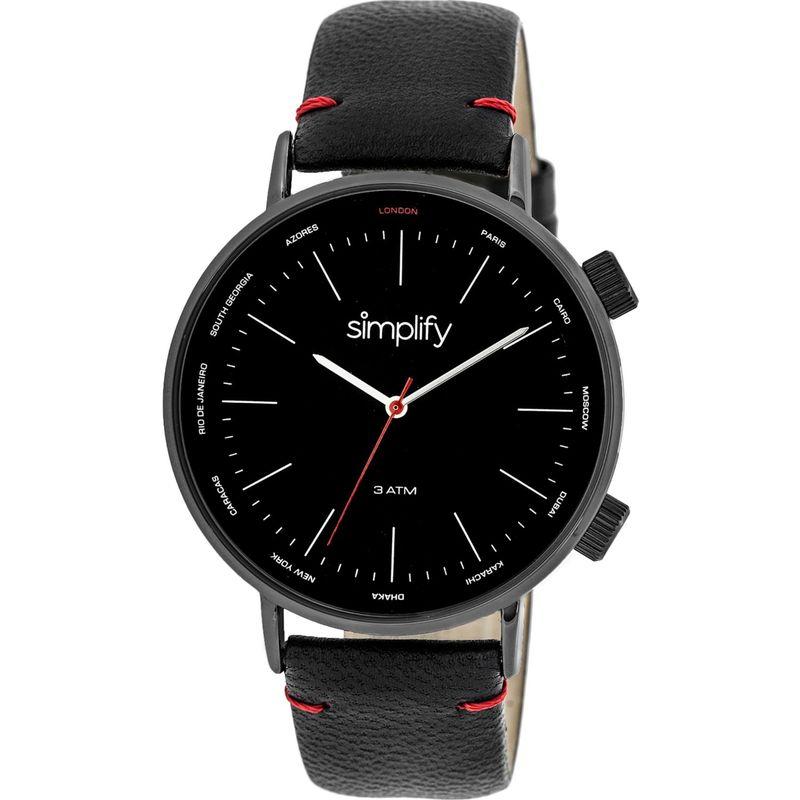 シンプリファイ メンズ 腕時計 アクセサリー The 3300 Unisex Watch Black