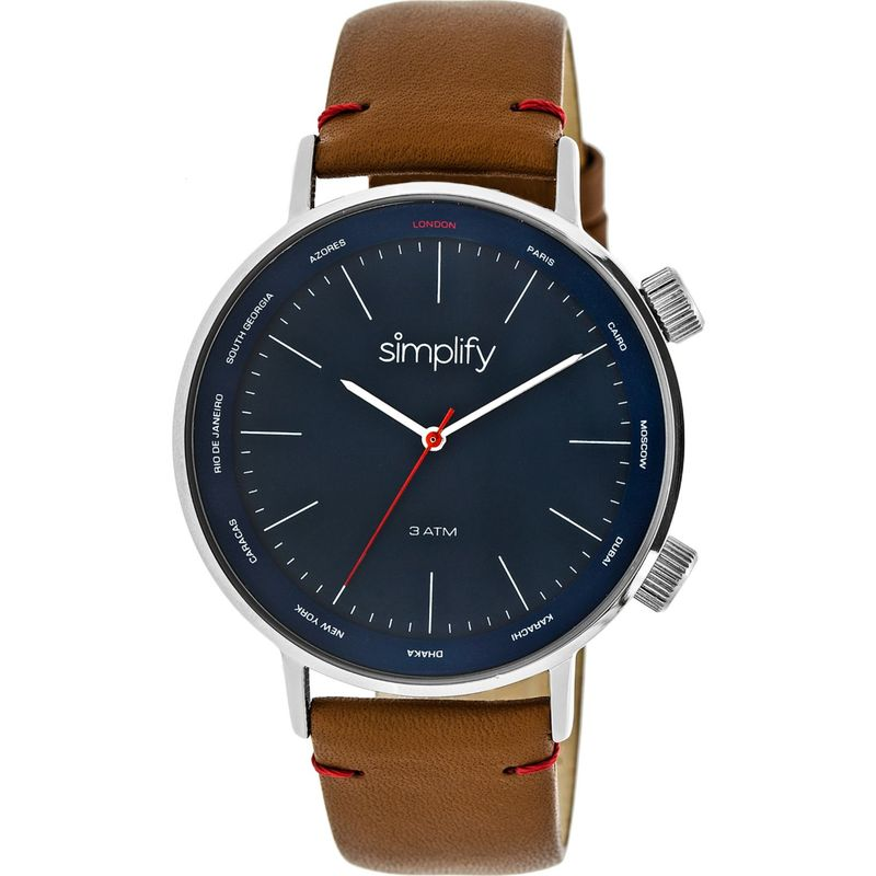 シンプリファイ メンズ 腕時計 アクセサリー The 3300 Unisex Watch Brown/Silver/Navy
