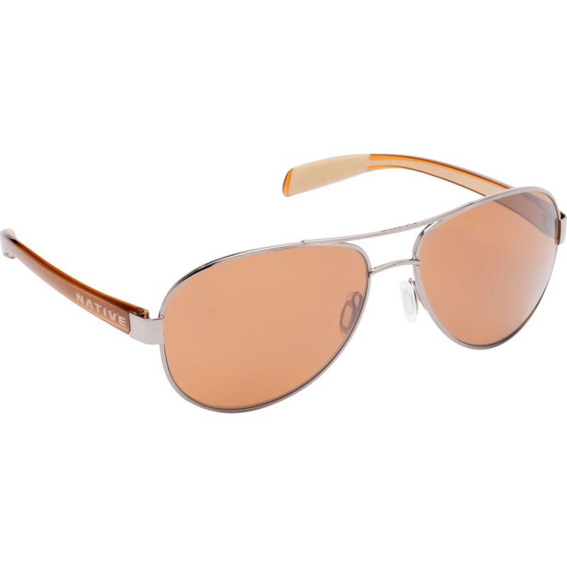 ネイティブアイウェア メンズ サングラス・アイウェア アクセサリー Patroller Sunglasses Chrome/Crystal Brown with Polarized Brown