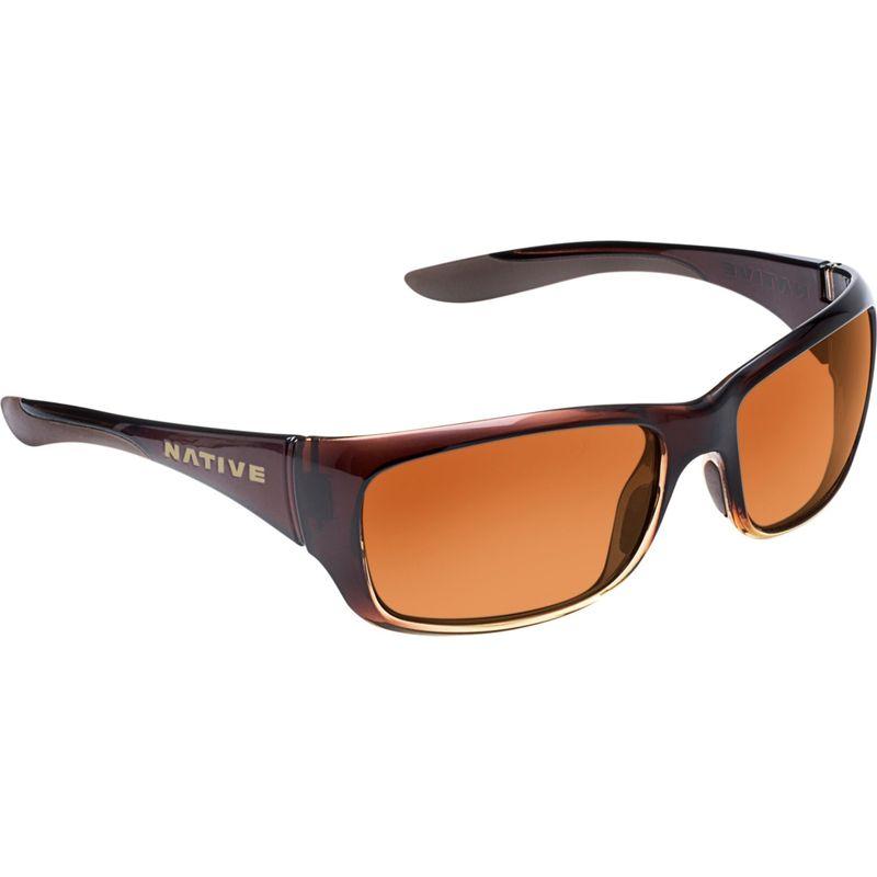 ネイティブアイウェア メンズ サングラス・アイウェア アクセサリー Kannah Sunglasses Stout Fade with Polarized Brown