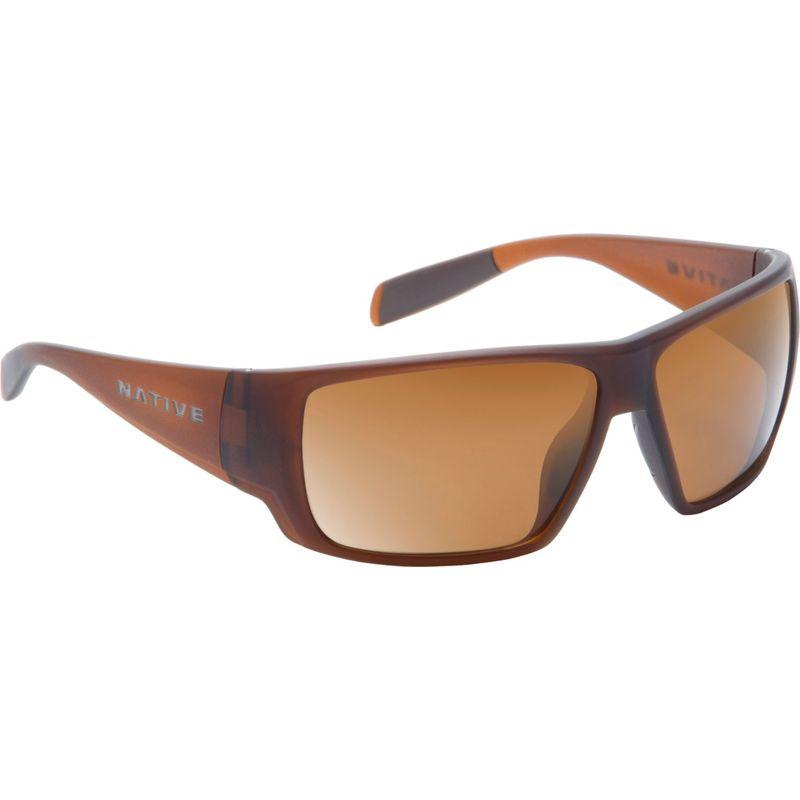 ネイティブアイウェア メンズ サングラス・アイウェア アクセサリー Sightcaster Sunglasses Matte Brown Crystal with Polarized Brown