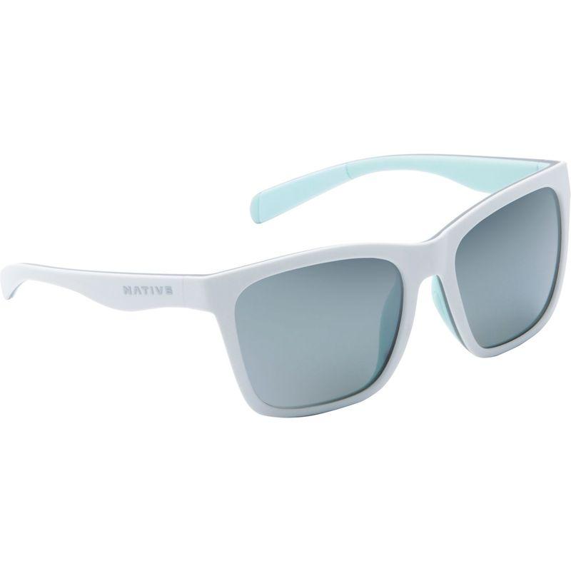 ネイティブアイウェア メンズ サングラス・アイウェア アクセサリー Braiden Sunglasses Matte White/Gray/Mint with Polarized Silver Reflex