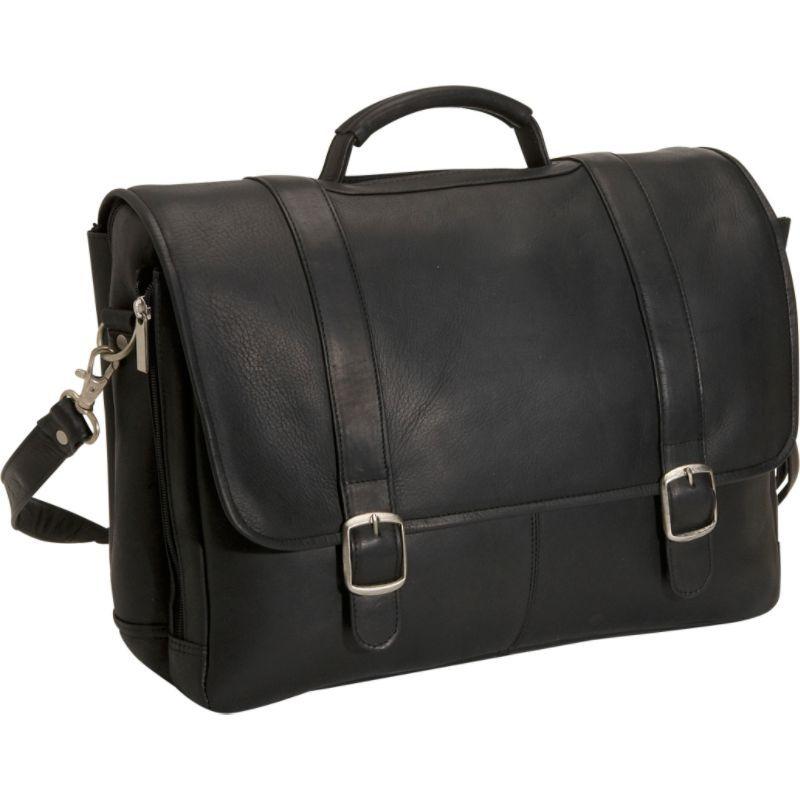 デビッドキング メンズ スーツケース バッグ Porthole Laptop Briefcase Black