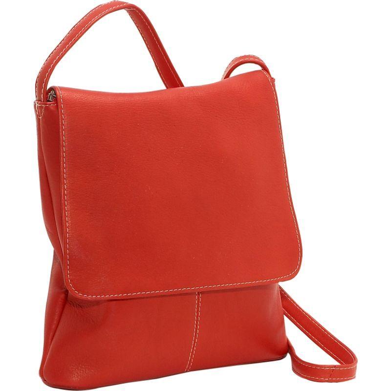 ルドネレザー メンズ ボディバッグ・ウエストポーチ バッグ Simple Flap Over Red