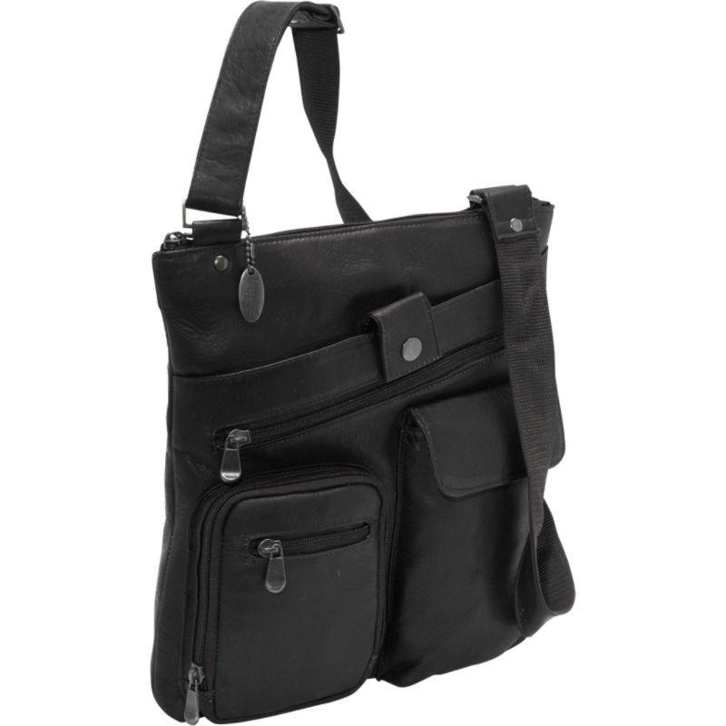 デビッドキング メンズ ショルダーバッグ バッグ Multi Pocket Cross Bag Black