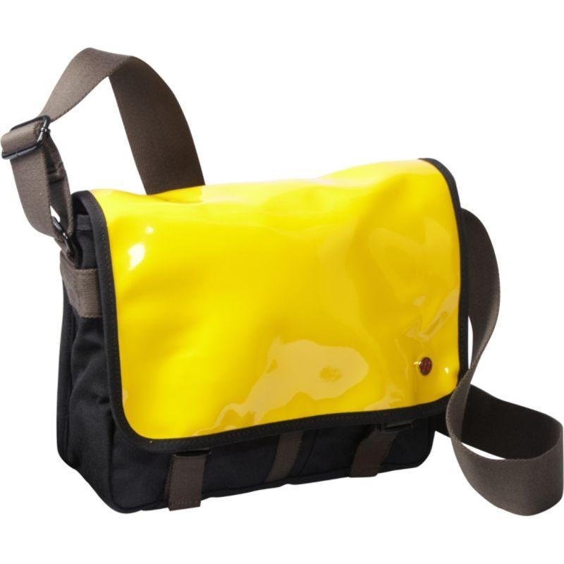 トーケン メンズ ショルダーバッグ バッグ Metropolitan Enamel DJ Bag (S) Yellow