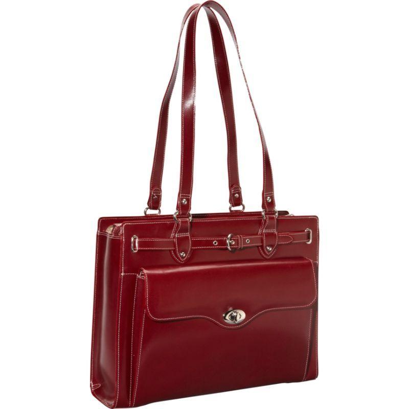 マックレイン メンズ スーツケース バッグ Joliet 15 Leather Laptop Tote EXCLUSIVE Red