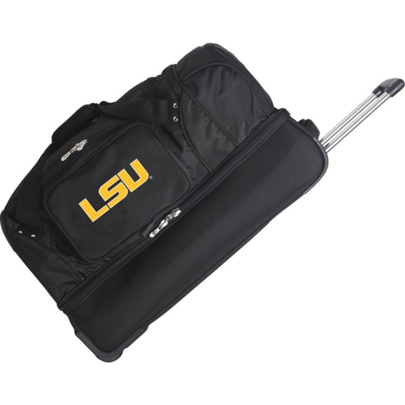 デンコスポーツ メンズ スーツケース バッグ NCAA 27 Drop Bottom Wheeled Duffel Bag Louisiana State University Tigers