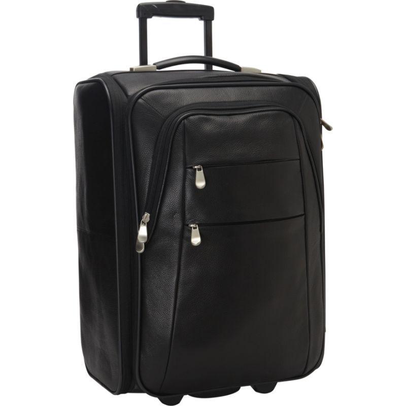 ベリノ メンズ スーツケース バッグ Leather Folding Laptop Carry-On 21 Black