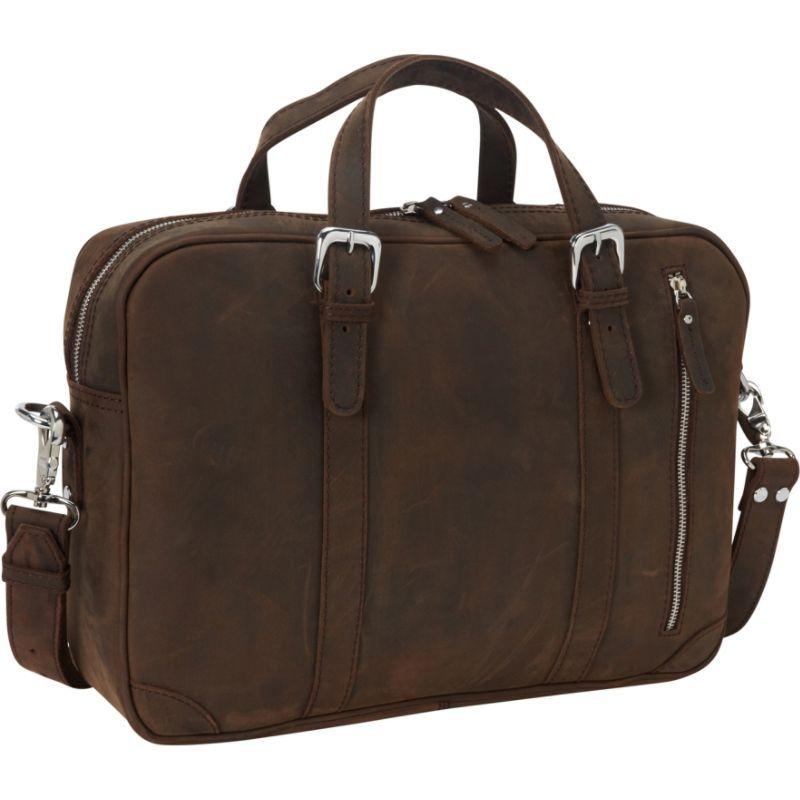 ヴァガボンドトラベラー メンズ スーツケース バッグ 16.5 Fine Leather Casual Laptop Bag Vintage Distress