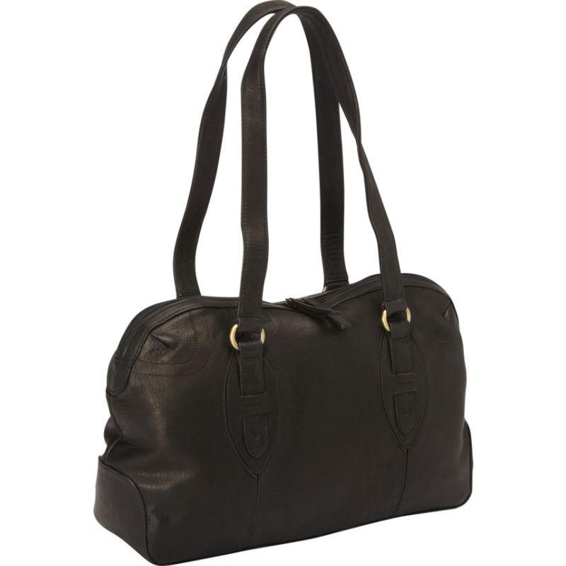 デレクアレクサンダー メンズ ショルダーバッグ バッグ E/W Top Zip Satchel Bag Black