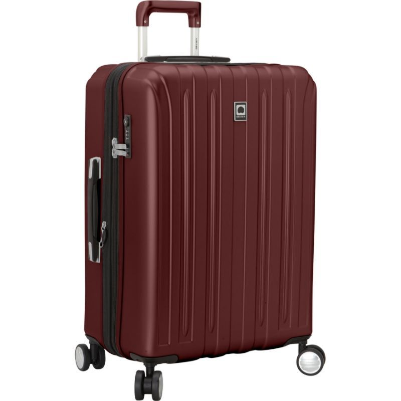 デルシー メンズ スーツケース バッグ Helium Titanium 25 Spinner Trolley Black Cherry
