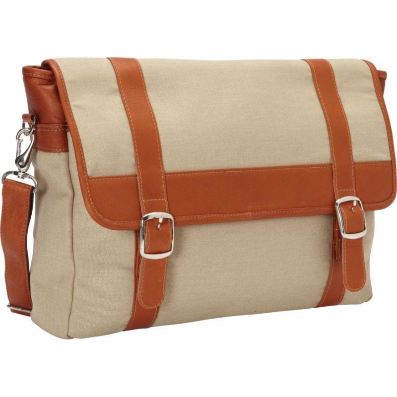 ピエール メンズ スーツケース バッグ Flap-Over Laptop, Tablet Portfolio Briefcase Saddle