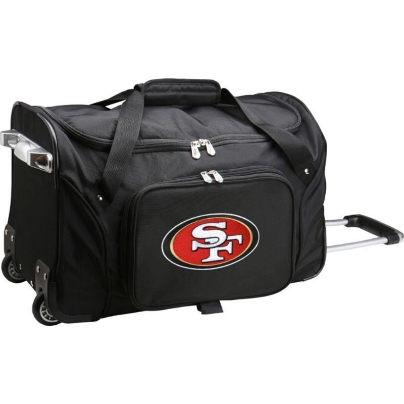 デンコスポーツ メンズ スーツケース バッグ NFL 22 Rolling Duffel San Francisco 49ers