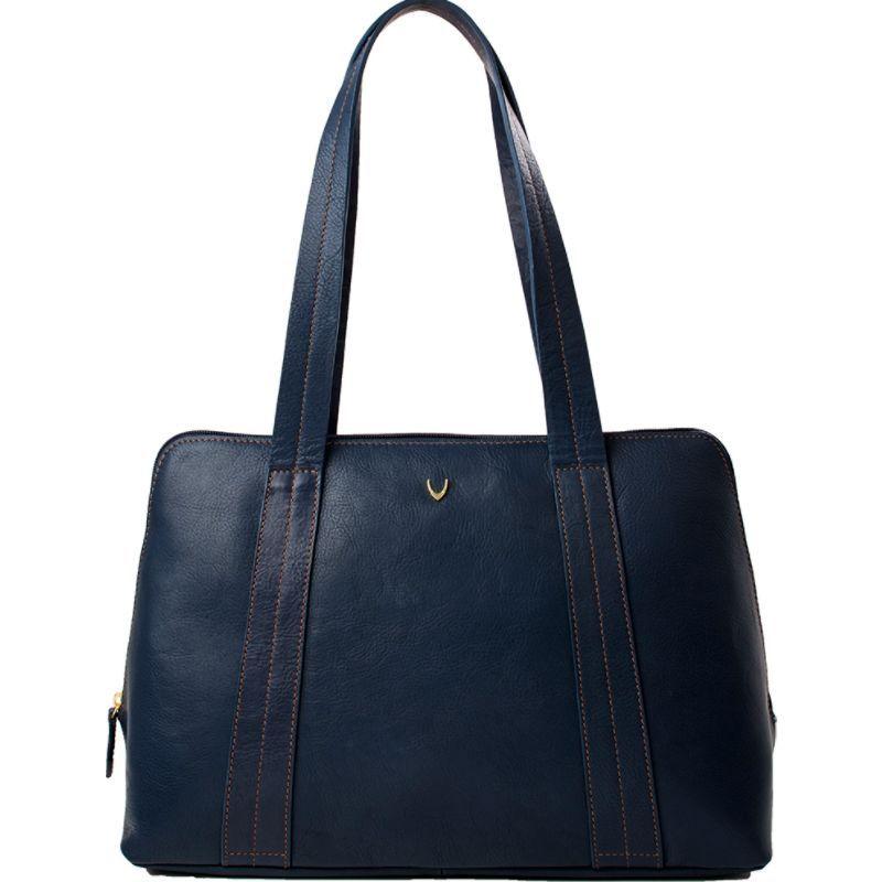 ハイデザイン メンズ トートバッグ バッグ Cerys Leather Multi-Compartment Tote Blue