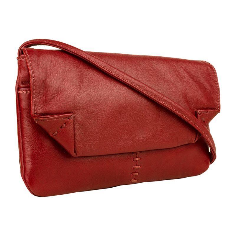 ハイデザイン メンズ ボディバッグ・ウエストポーチ バッグ Stitch Leather Handcrafted Cross Body Red