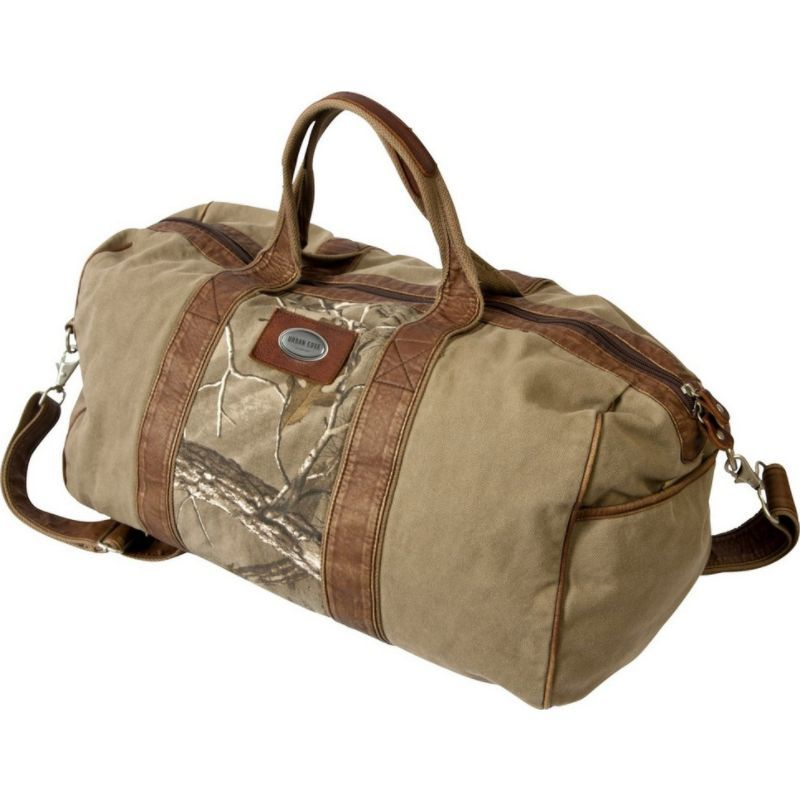 キャニオンアウトバック メンズ スーツケース バッグ Urban Edge Hudson Realtree Xtra 20-inch Canvas Duffel Bag Brown
