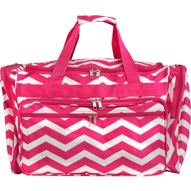ワールドトラベラー メンズ スーツケース バッグ Chevron 22 Travel Duffle Bag Fuchsia White Chevron