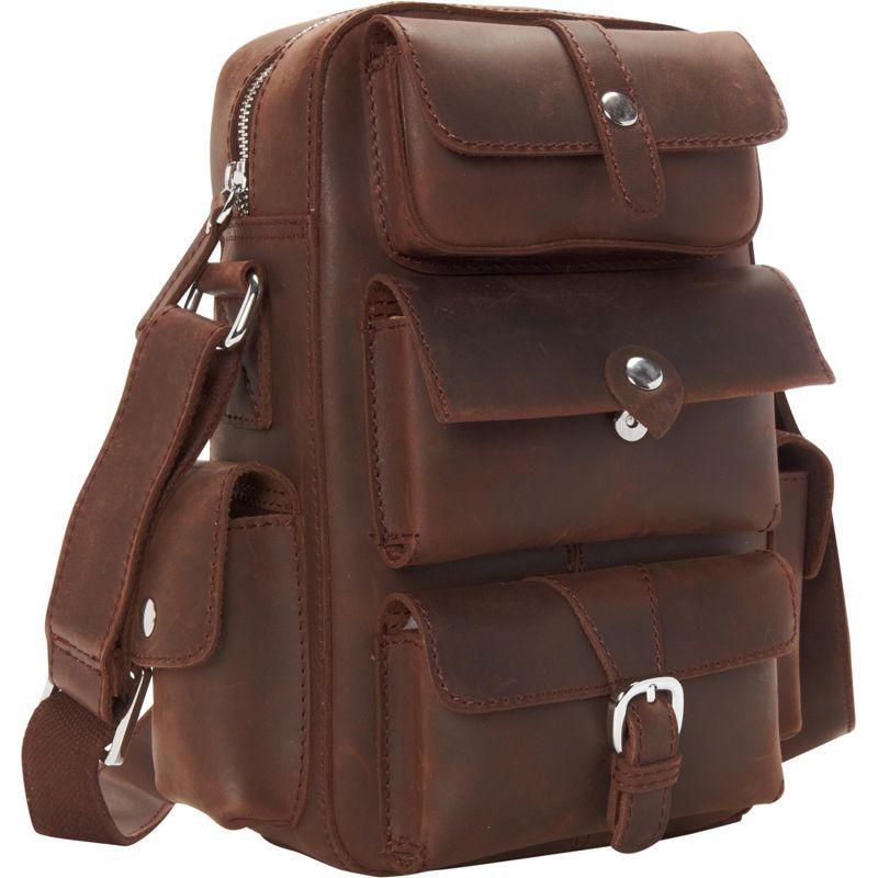 ヴァガボンドトラベラー メンズ ショルダーバッグ バッグ Insect Style Cowhide Leather Shoulder Bag Dark Brown
