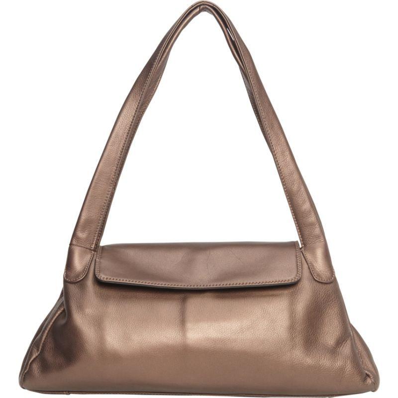 デレクアレクサンダー メンズ ショルダーバッグ バッグ Top Zip w/ 1/4 Flap, Twin Handle Shoulder Bag Bronze/Black