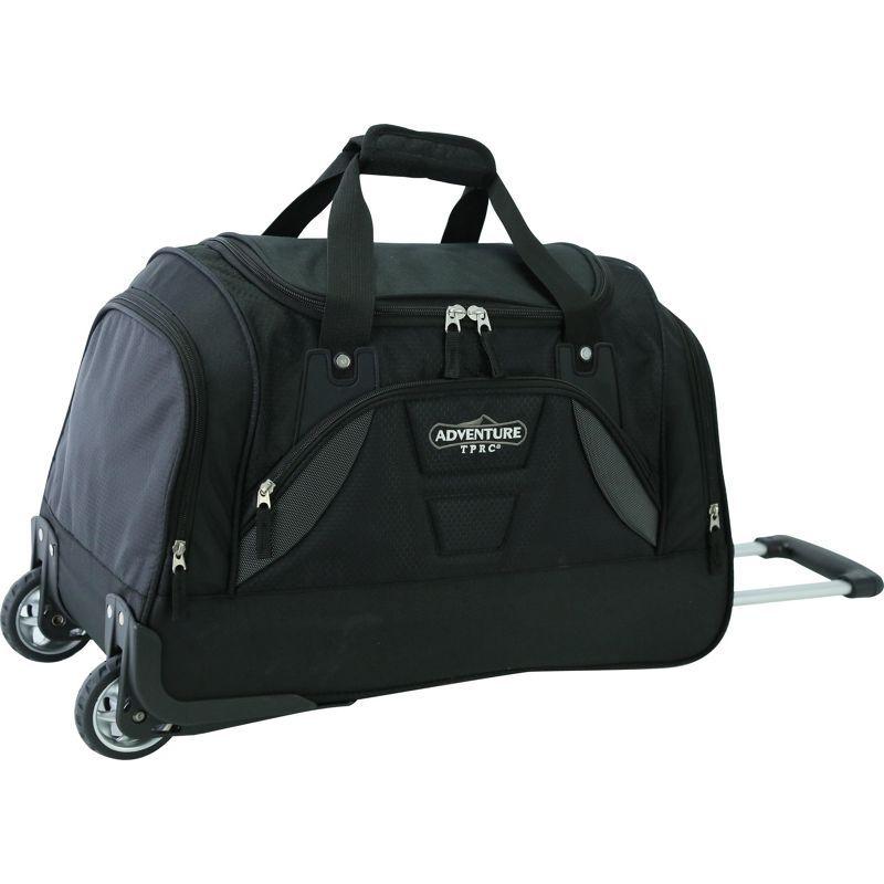 トラベラーズクラブ メンズ スーツケース バッグ Adventure 21 Rolling Duffel Bag Black