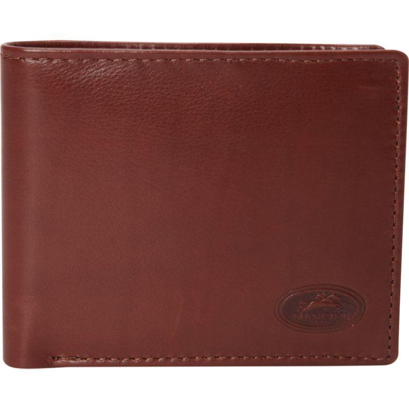 マンシニレザーグッズ メンズ 財布 アクセサリー Mens RFID Secure Left Wing Wallet Cognac