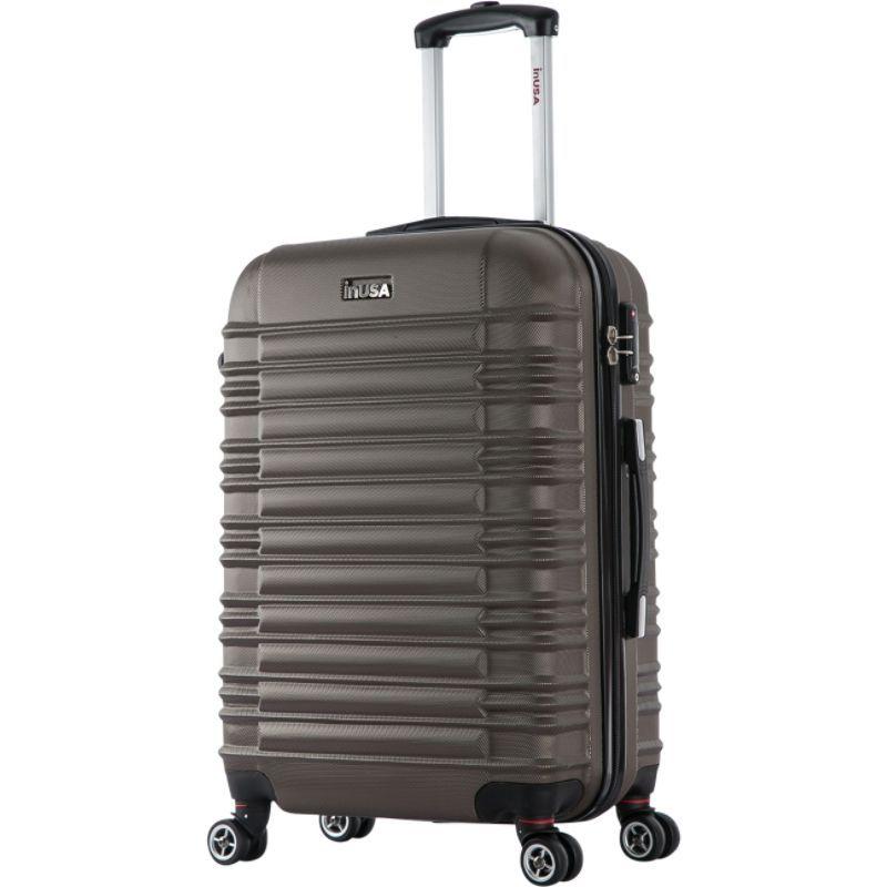 インユーエスエー メンズ スーツケース バッグ New York Collection 24 Lightweight Hardside Spinner Suitcase Brown