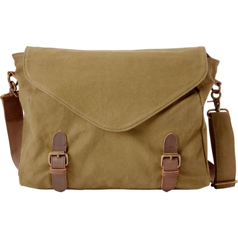 ヴァガボンドトラベラー メンズ スーツケース バッグ Casual Style Canvas Messenger Bag Green