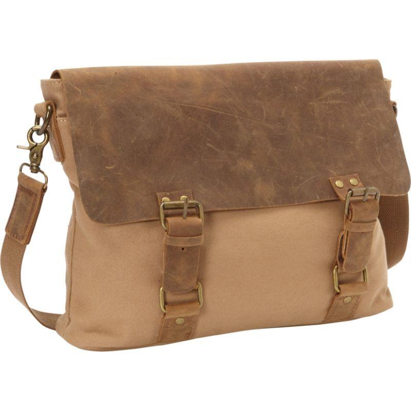 ヴァガボンドトラベラー メンズ ショルダーバッグ バッグ Classic Canvas Messenger Bag Khaki