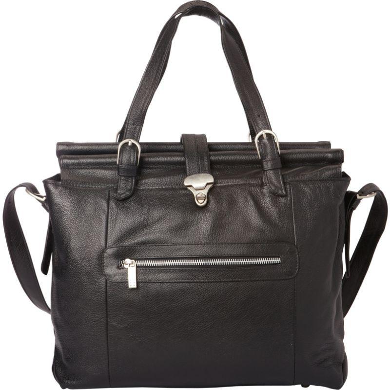 ピエール メンズ スーツケース バッグ Double Dowel Rod Leather Bag Black