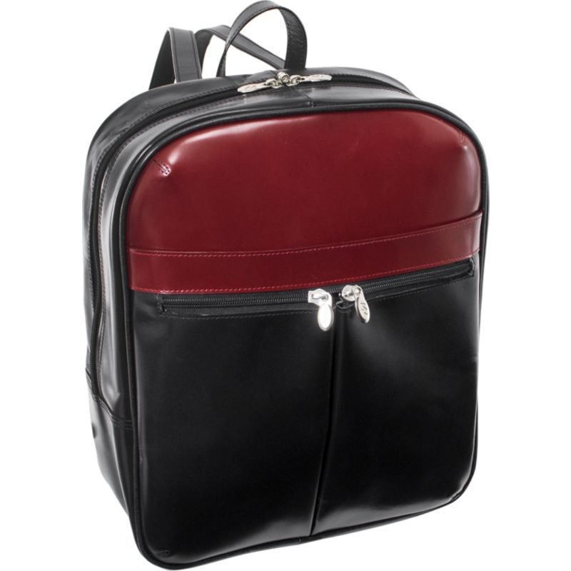 マックレイン メンズ スーツケース バッグ Edison Laptop Backpack Black/Red