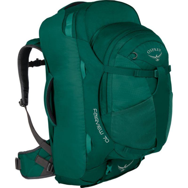 オスプレー レディース バックパック・リュックサック バッグ Women's Fairview 70L Travel Backpack Rainforest Green S/M