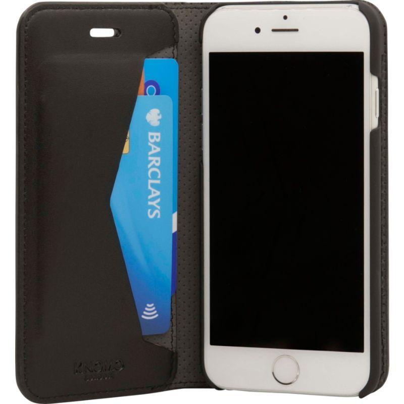 クノモ メンズ PC・モバイルギア アクセサリー iPhone 8/7 Premium Leather Folio Black