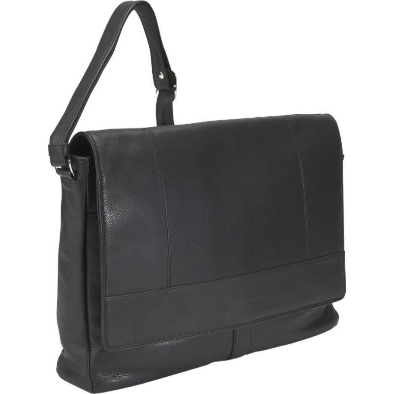 デレクアレクサンダー メンズ ショルダーバッグ バッグ Half Flap Multi Pocket Business Case Black