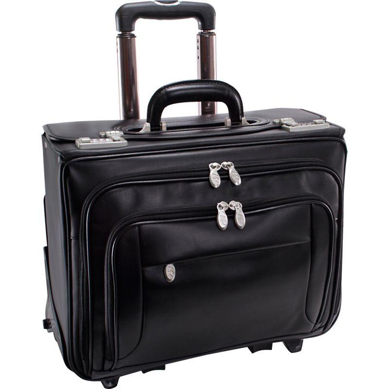 マックレイン メンズ スーツケース バッグ Sheridan Leather Wheeled 15 Laptop Catalog Case Black