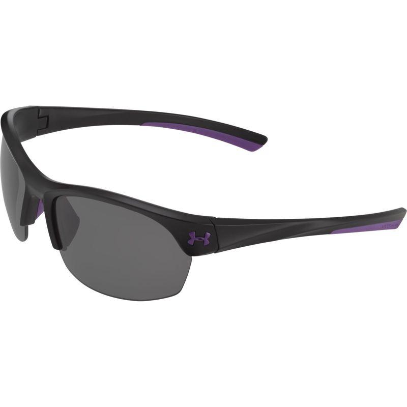 アンダーアーマー メンズ サングラス・アイウェア アクセサリー Marbella Sunglasses Satin Black-Violet Accents/Gray Multiflection