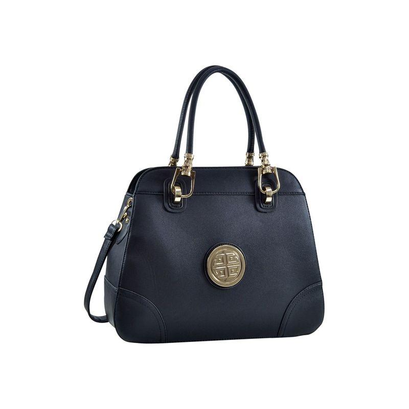 ダセイン メンズ ショルダーバッグ バッグ Emblem Metal Hinge Handle Bag with Removable Shoulder Strap Black