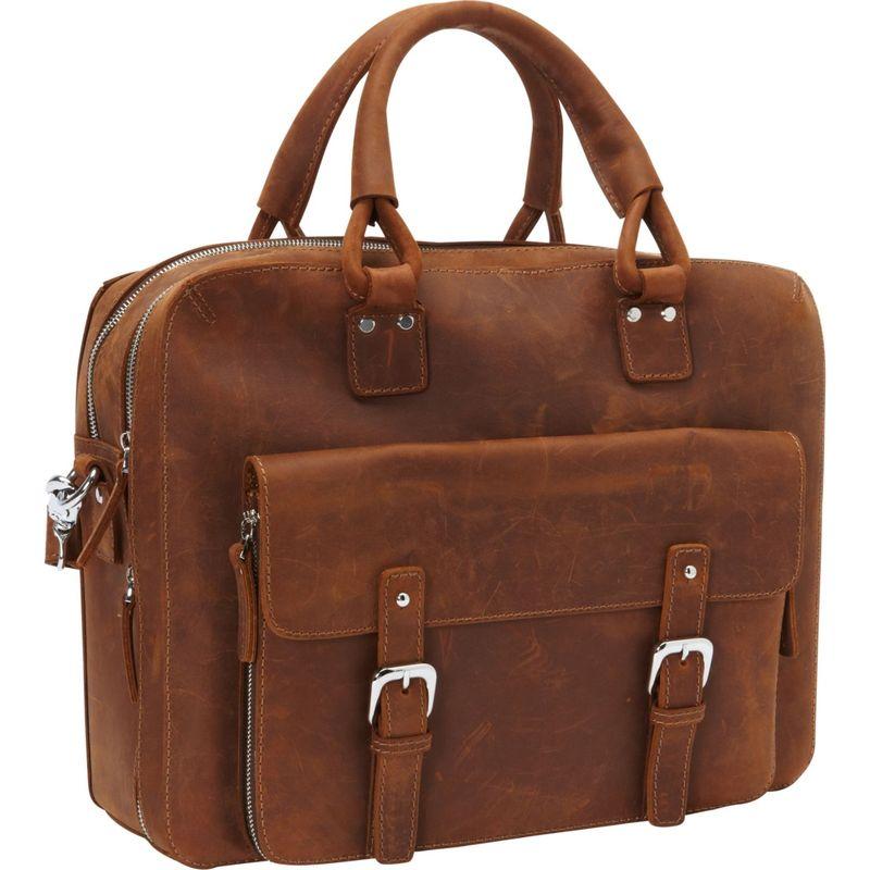 ヴァガボンドトラベラー メンズ スーツケース バッグ Full Grain Leather Travel Tote Brown