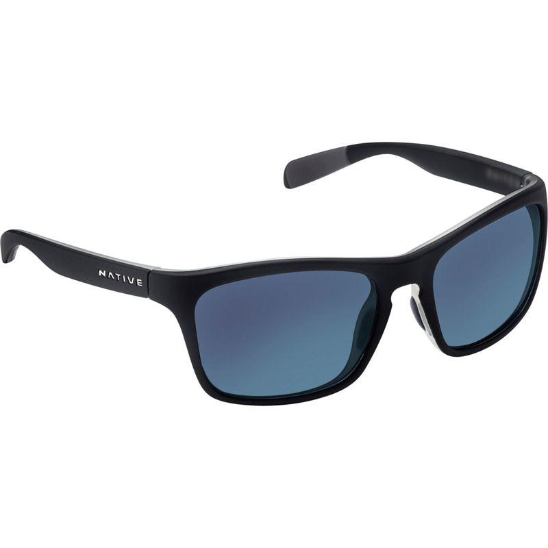 ネイティブアイウェア メンズ サングラス・アイウェア アクセサリー Penrose Sunglasses Matte Black/Crystal with Polarized Blue Reflex