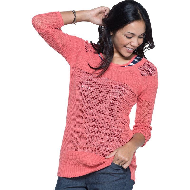 トードアンドコー レディース ニット・セーター アウター Floreana 3/4 Sweater XS - Spiced Coral